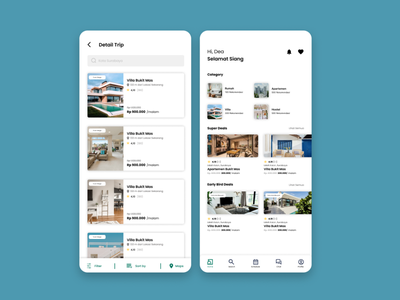 Online Booking Property Application mockuptravel airbnb property onlinebooking booking ui ux graphic design mobile application homepage travel ui