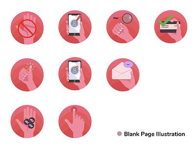Blank Page Illustration vector ui ux illustration flat design