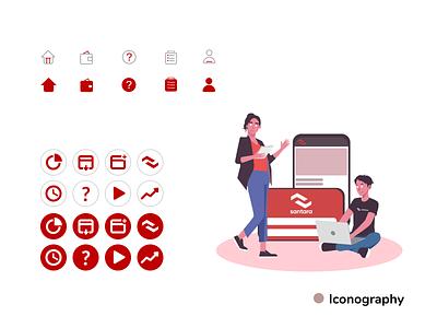 Icon Illustration icon vector illustration flat design