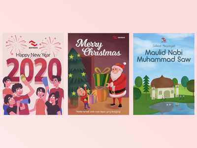 Holiday Illustration branding vector flat design illustration