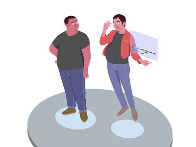 Human Illustration ux ui vector flat design illustration