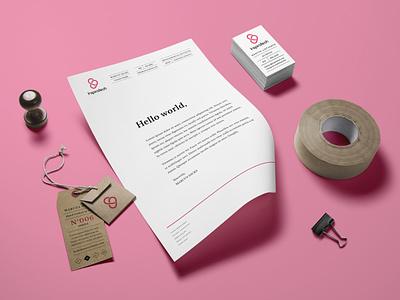 Company Logo design flat vector typography branding logo