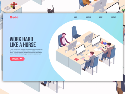 Landing Page Illustration website web vector ux ui illustration flat design