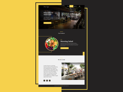 Cafe - Web ReDesign app ux ui design design ui