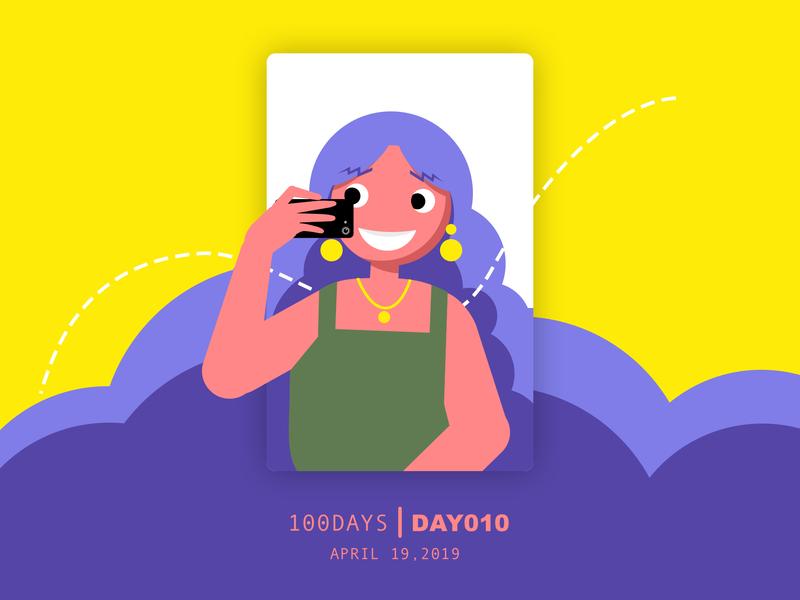 ※ 010 ※ 100days | design aposter everyday take photo girl fire bar ui 100 daily ui poster illustration design