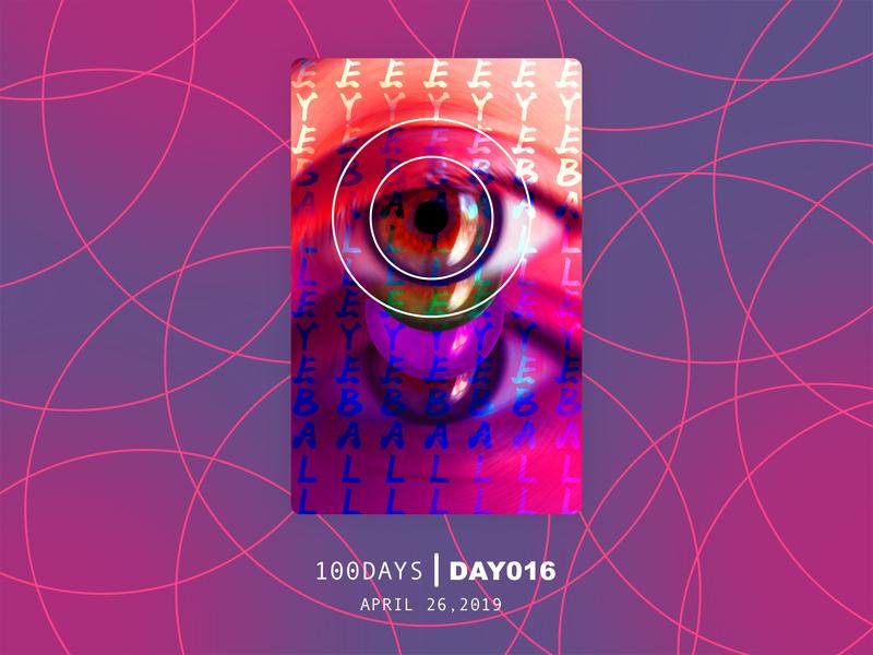 ※ 017 ※100days | design a poster everyday japanese art eyesight eyes ui 100 daily ui poster illustration design