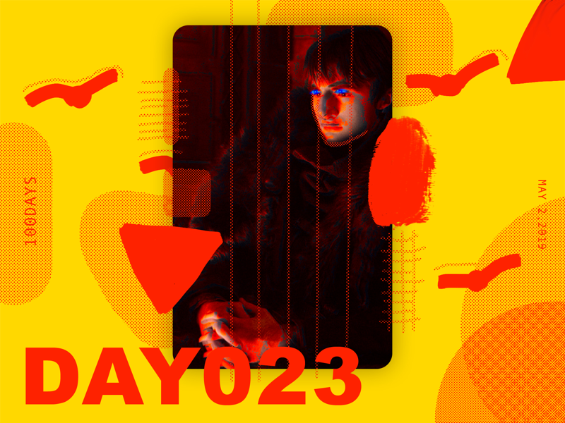 ※ 023 ※100days  | design a poster everyday