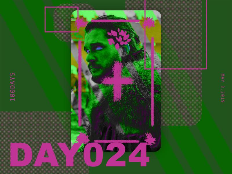 ※ 024 ※100days | design a poster everyday gameofthrones got jon snow eyes ui 100 daily ui poster illustration design