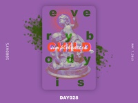 ※ 028 ※100days | design a poster everyday