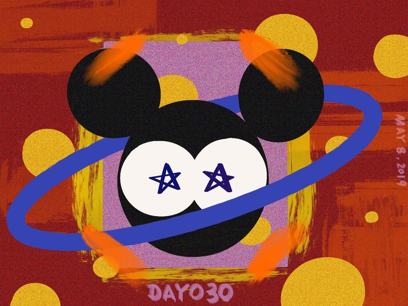 ※ 030 ※100days | design a poster everyday mickeymouse mickey branding eyes 100 daily ui ui poster illustration design