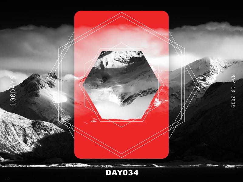 ※ 034 ※100days   design a poster everyday web 100 daily ui ui poster illustration design