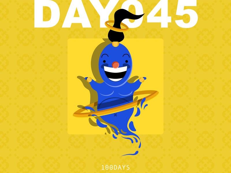 045   design a poster aladdin sane poster illustraion illustrator sketch will smith lamp aladdin