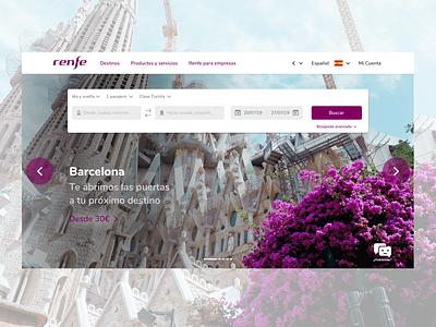 Renfe Home redesign web ux design ui