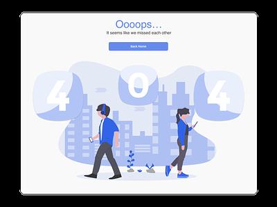 404 error web ui ux illustration daily 100 challenge