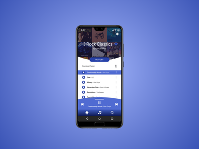 Music Player ux design app ui daily 100 challenge