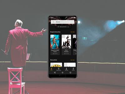 Circus App (Home) ui design app ux