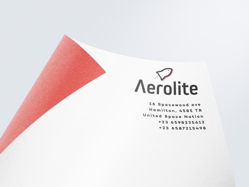 Mockup Aerolite Logo rocket logo design dailylogochallenge typography type symbol minimal logo lettering illustrator illustration icon design clean branding