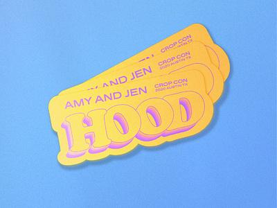 Crop Con sticker for Amy and Jen Hood crop crop con cropcon austin sticker badge clean illustrator typography type lettering design