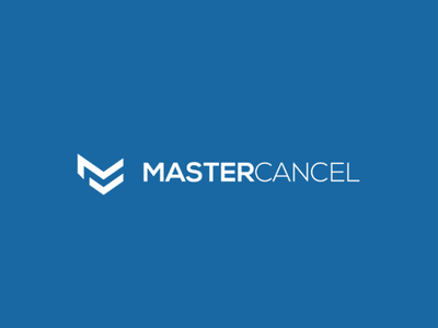 Master cancel logo vector typograpgy type minimal logo identity icon flat design clean branding