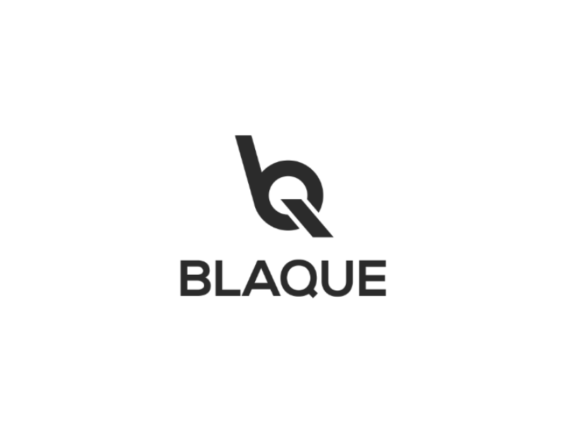 Blaque logo vector typograpgy type minimal logo identity icon flat design clean branding