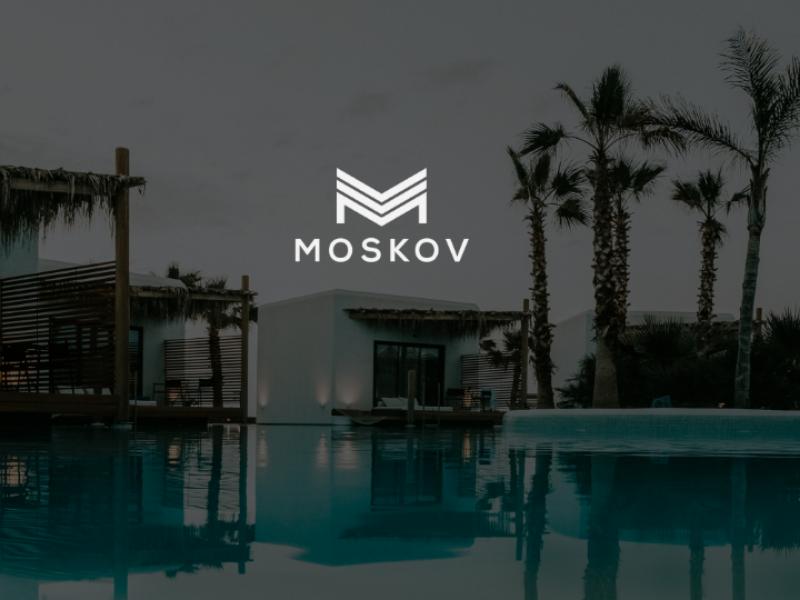 Moskov hotel logo vector typograpgy type minimal logo identity icon flat design clean branding