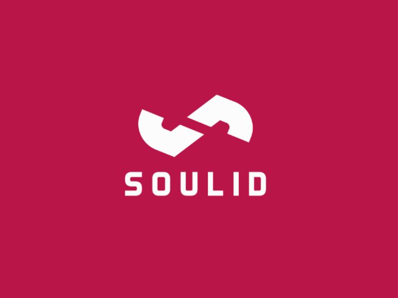 Soulid logo vector typograpgy type minimal logo identity icon flat design clean branding
