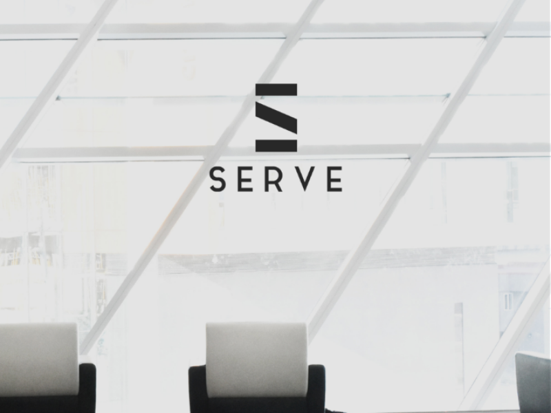 Serve logo vector typograpgy type minimal logo identity icon flat design clean branding