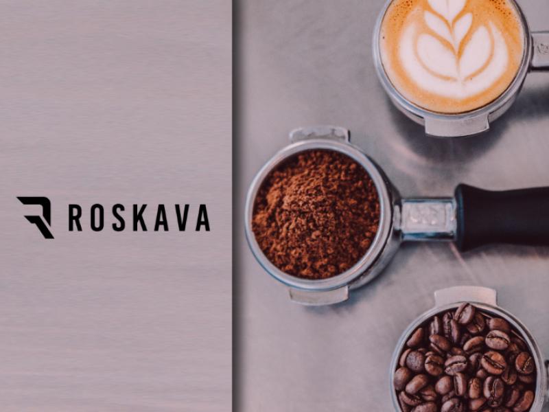 Roskava logo vector type identity icon flat design clean branding
