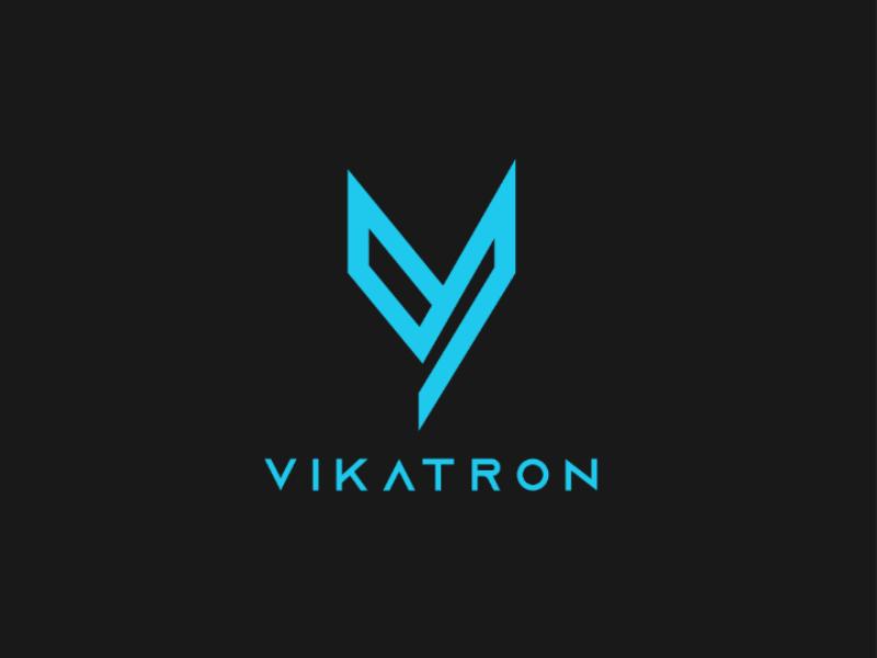 Vikatron logo vector type identity icon flat design clean branding