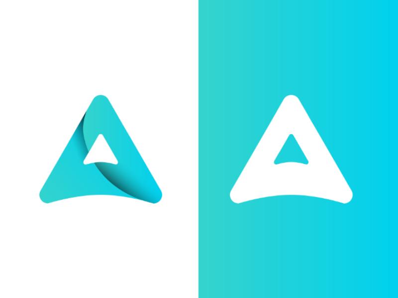 Axura logo vector type identity icon flat design branding