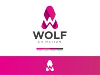 Wolf animation logo