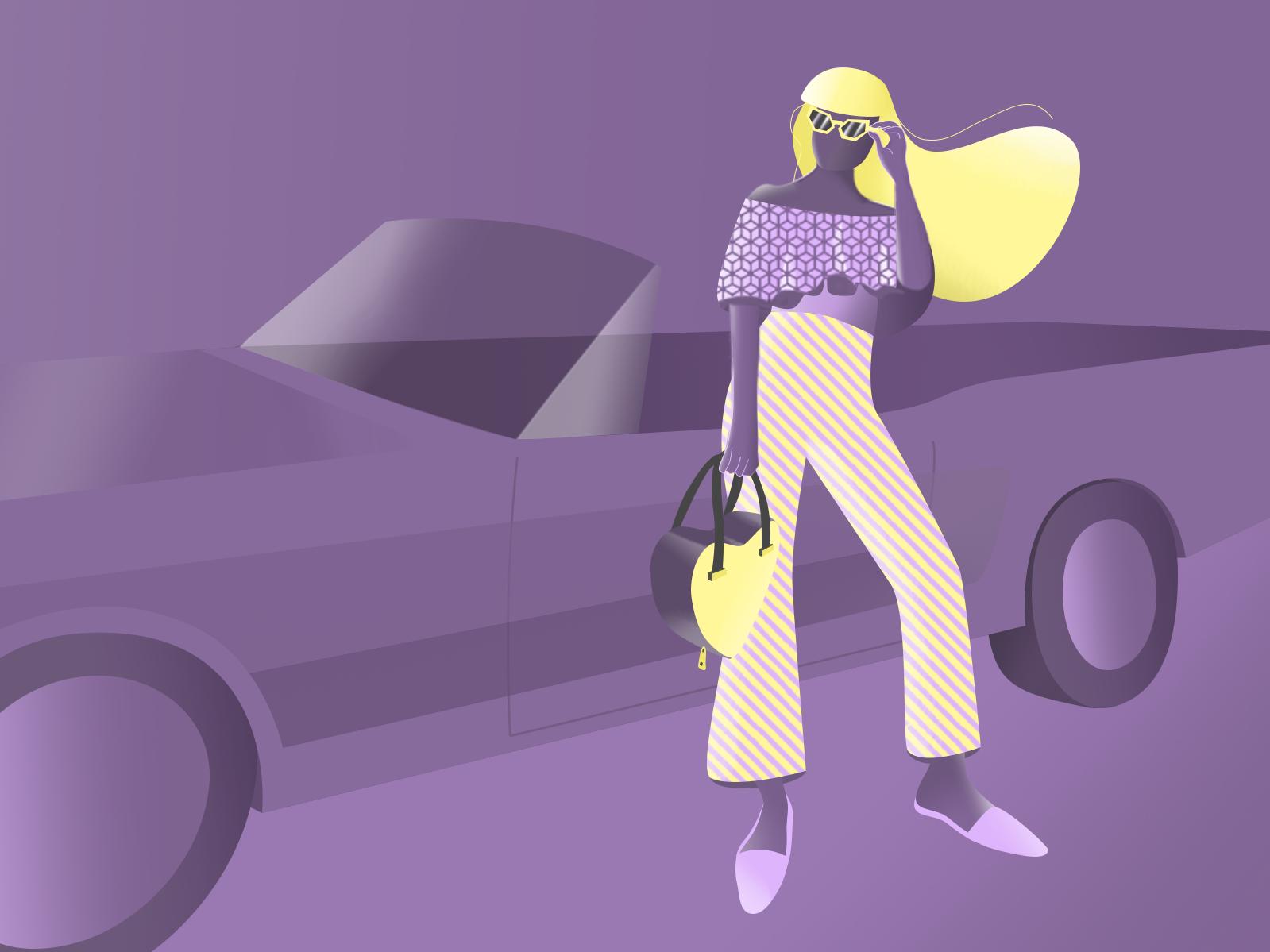 Summer roadtrip characterdesign character design gradient illustration
