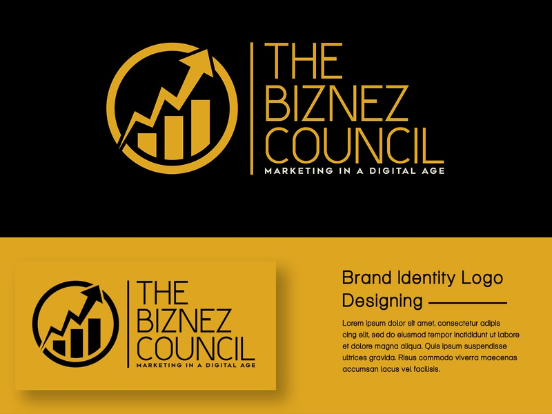 The Biznes Council Brand Logo Mockup branding subhashkaimal unique logo design art brand identity logodesign