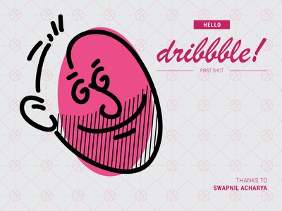 Hello Dribbble face illustrator adobe illustration bangladesh caricature cartoon design first debashis