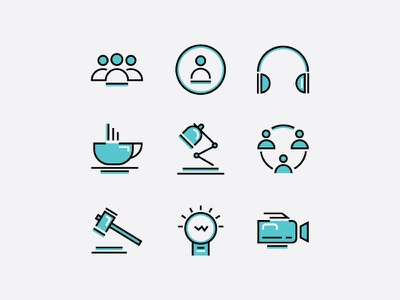 BPO Icon Collection bpo icon illustrator adobe bangladesh design debashis