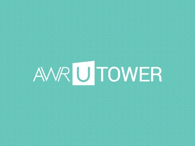 AWR U. Tower Logo usman u tower design website home real estate signature awr