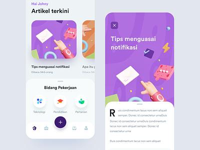 Job Discussion Platform pattern cad cards typography icons blender 3d ui app ios article task job