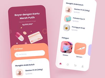 Online Pharmacy App Design doctor health medicine blender 3d 3d model illustrations 3d cards dashboard mobile app icons illustration