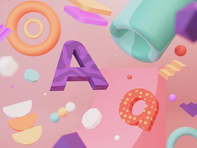 Branding 3d Illustration texture abstract logo brand pattern artwork blender 3d blender 3d modeling 3d illustration