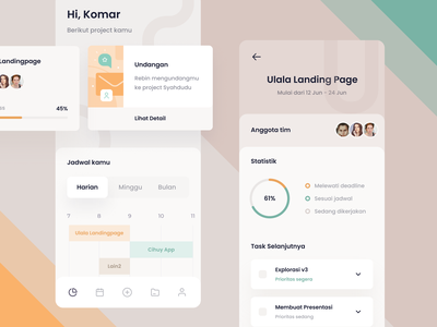 Project Tracker App mobile app illustration crm teamwork work client collaboration to do task management project productivity