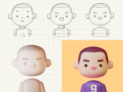 Paperpillar new avatar human profile profile picture ava avatar characters blender 3d 3d illustration