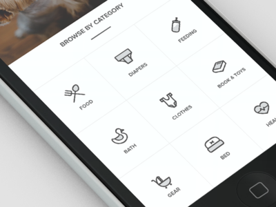 Sneak peek of current project profile feed babies app ios material android shop icons mobile baby