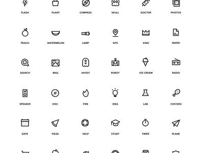 Random Stuff Iconset Vol 2 random free freebie psd line illustrator ai iconset icons