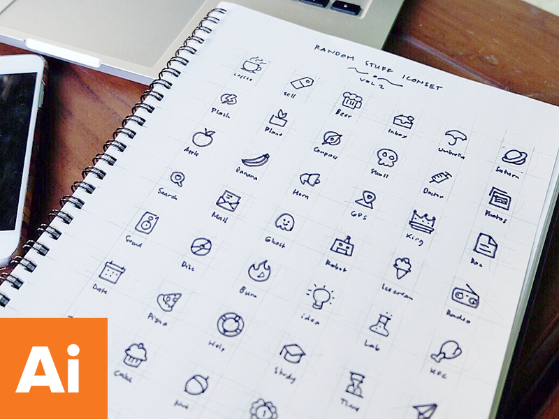 Random Stuff Iconset Vol 2 random free freebie psd line illustrator ai iconset icons