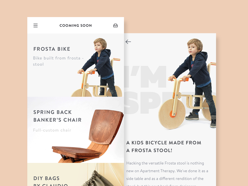 Shop App Interface commerce product detail ui elegant minimal retro shop ios app mobile