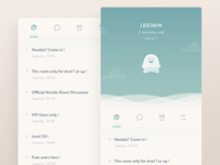 Mondo Concept UI Experiment app iphone ios avatar room network social illustration chat monster