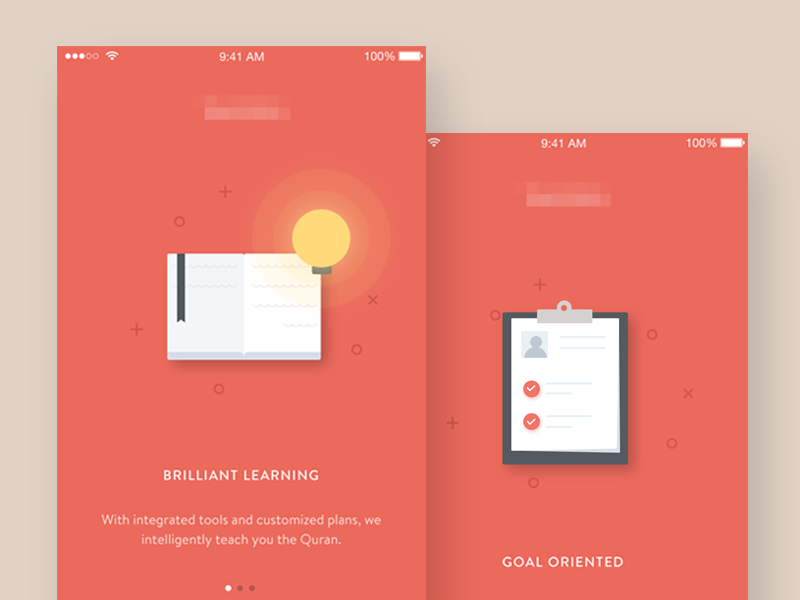 Onboarding Education App signup signin flat illustration register login intro mobile ios