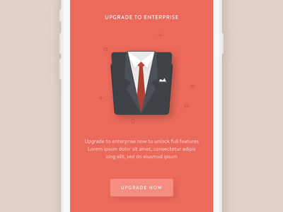 Upgrade to Enterprise Package free pro suit clean illustration sidebar study learning social mobile app ios
