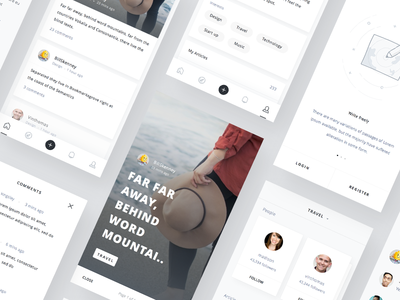 Mobile Blog App UI kit