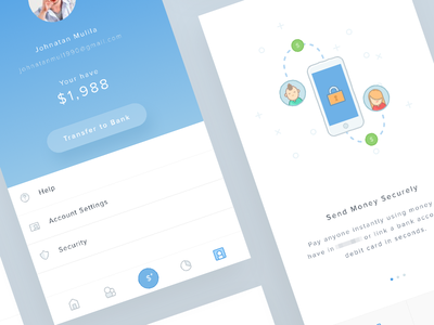 Mobile Payment System Project icons illustration secure venmo paypal account profile request social commerce pay ios